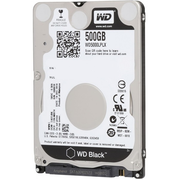 "2.5"" HDD SATA III 500GB 7200rpm 32MB Cache BLACK"