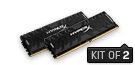 Memória HYPERX DDR4 16GB 3333MHz CL16 DIMM (Kit of 2) Predator