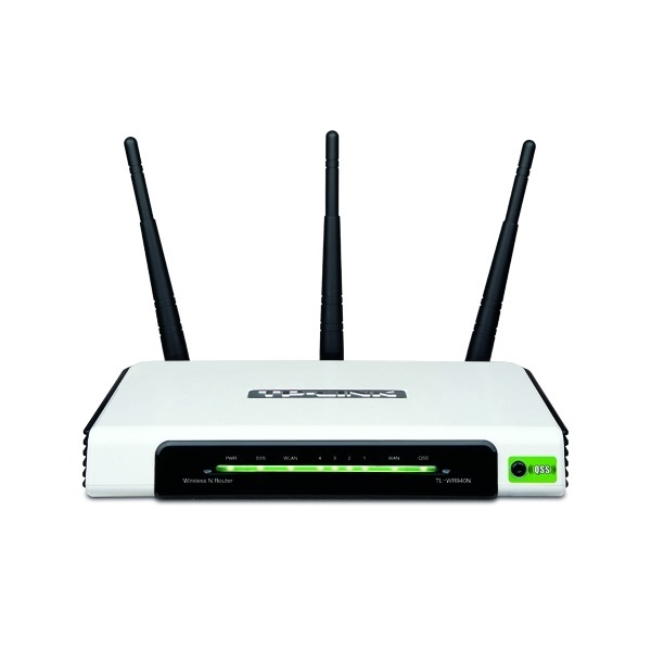 Router WiFi N - TL-WR940N (450Mbps, 2,4GHz; 4port 100Mbps; 3x3MIMO; fix 5dBi antenna)