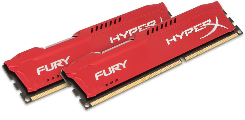 HyperX Fury Red 2x4GB DDR3 1600MHz CL10 (HX316C10FRK2/8)